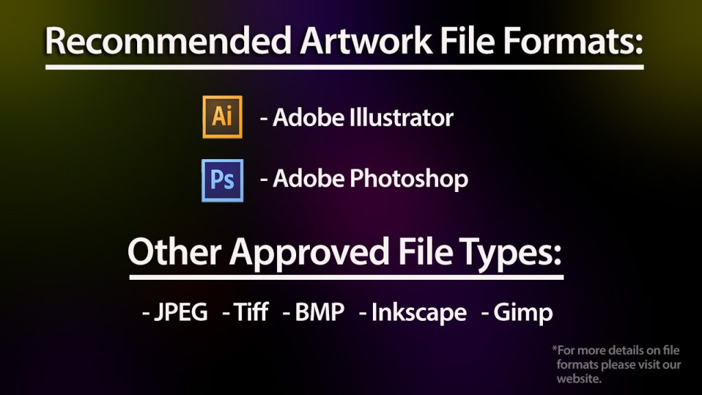 Hot Stamp Art Work Accepted File Types