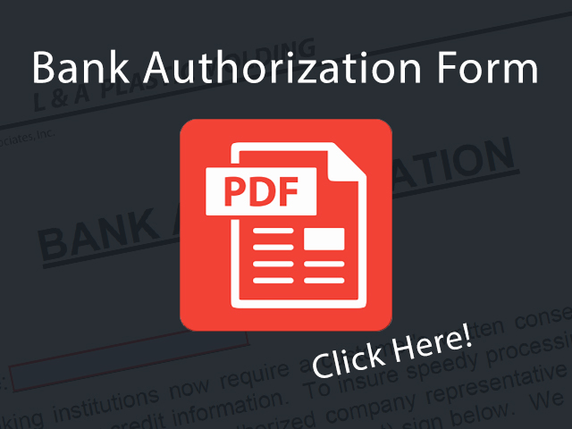 LAPackaging Bank Authorization Form Link